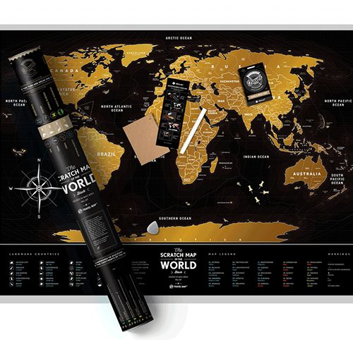 Scratch Map Of The World Black Souq Uae