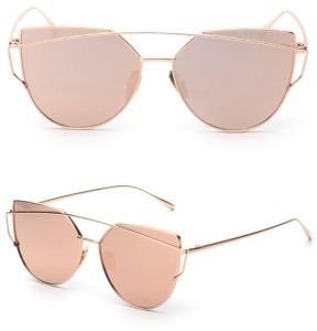 0a4f3b42dda8 Classic designer Fashion Retro Aviator Women Sunglasses Pink Mirrored  Lenses  BTT-01