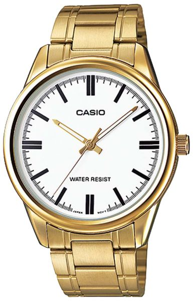 ae3273b09e2 Casio Men s White Dial Stainless Steel Band Watch - MTP-V005G-7A ...