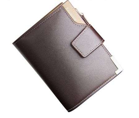 Baellerry Casual Leather Short Wallet for Men, Brown