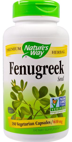 Nature's Way Fenugreek Seed 610 Mg 180 Veggie Caps. by Nature's Way, Dietary Supplements - 5 reviews