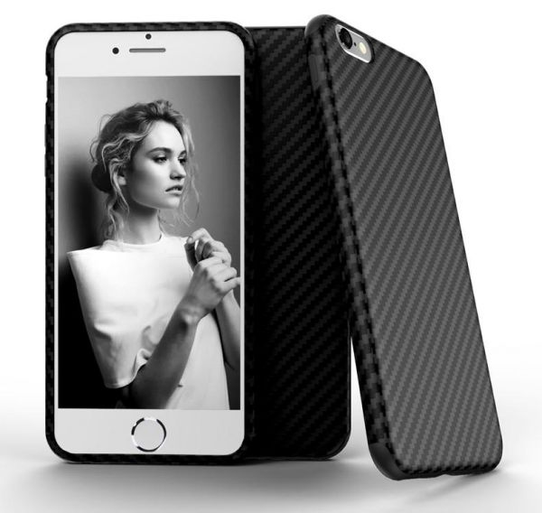 wholesale dealer 17807 4fc8d For iPhone 6S Plus 5.5in - X-Level Carbon Fiber Slim Back Case Cover Skin  For iPhone 6S Plus- Black