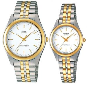 8fa93bc8b Casio His & Her for Unisex - Analog Stainless Steel Band Watch - MTP/LTP -1129G-7A