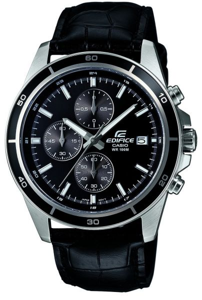 Casio Edifice for Men - Analog Leather Band Watch - EFR-526L-1AV, Quartz