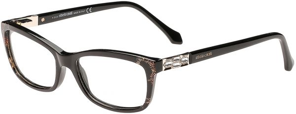 Souq | Roberto Cavalli Rectangle Black Women\'s Optical Frame - Rc ...