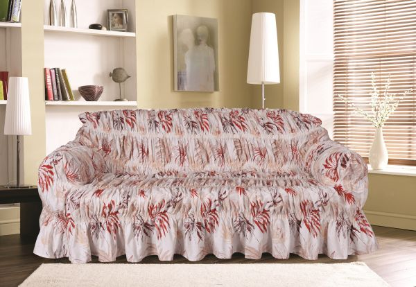 Knightsbridge Silvia Printed Sofa Cover 2 Seater Multi Color