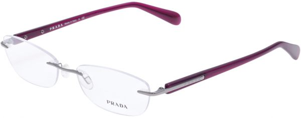 Buy Prada Rectangle Rimless Frames for Women - Glossy Purple, VPR ...