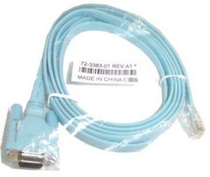 Cisco 72-3383-01 RJ-45 To DB-9 Rollover Console Cable 6 foot New USA Genuine