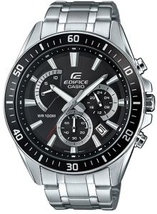 67d824202e3 Casio Edifice Men s Black Dial Stainless Steel Band Watch - EFR-552D ...