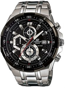 Casio Men s Black Dial Stainless Steel Band Watch - EFR-539D-1A 668387de7a4