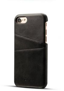 24ca27f1a33 Leather case for Iphone7 plus ultra-thin back shell stylish Card Holder  shockproof IP7842 black