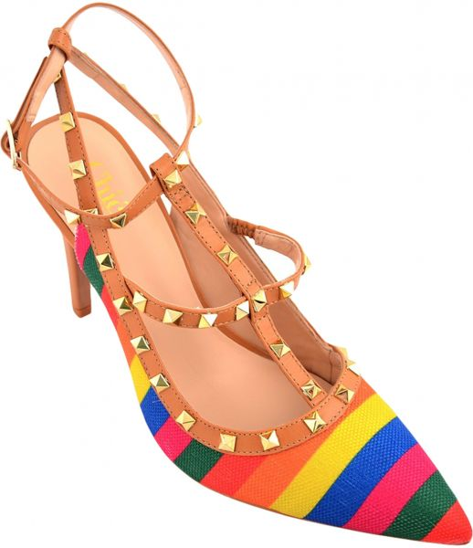 b28f26a5b Chic Shoes Multi Color Heel Sandal For Women