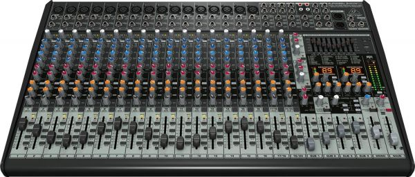 Behringer EURODESK SX2442FX Ultra-Low Noise Design 24-Input 4-Bus  Studio/Live Mixer with XENYX Mic Preamplifiers, British EQs and Dual  Multi-FX