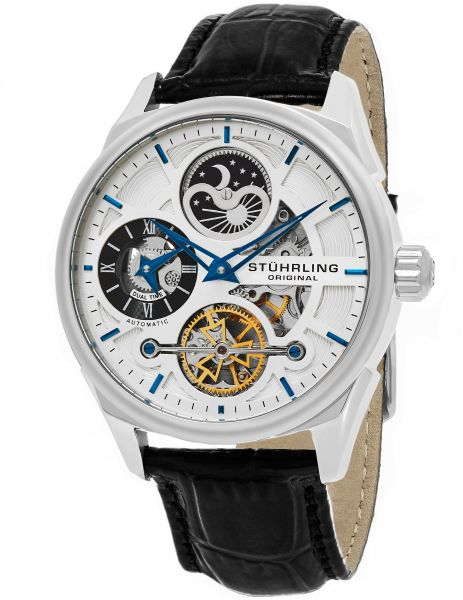 Stuhrling Original Reserve 657 Men's Silver Dial Stainless Steel Band Watch - 657.01