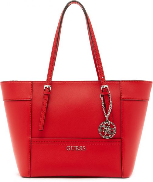 Tote Bag for Women by Guess, Red, Leather,