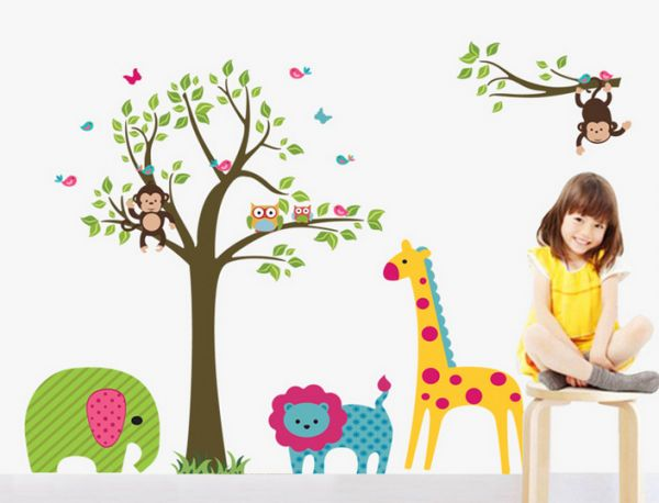 Childrens Room Decorative Wall Stickers Kids Pvc Sticker Home