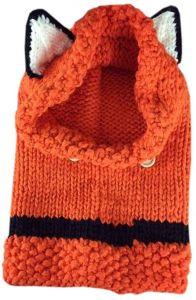 8c131ddf425 Winter Baby Child Girls Beanie Animal Fox Hat Hooded Scarf Knit Caps-Orange