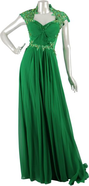 c76c265935c Green Chiffon Special Occasion Dress For Women. by Other