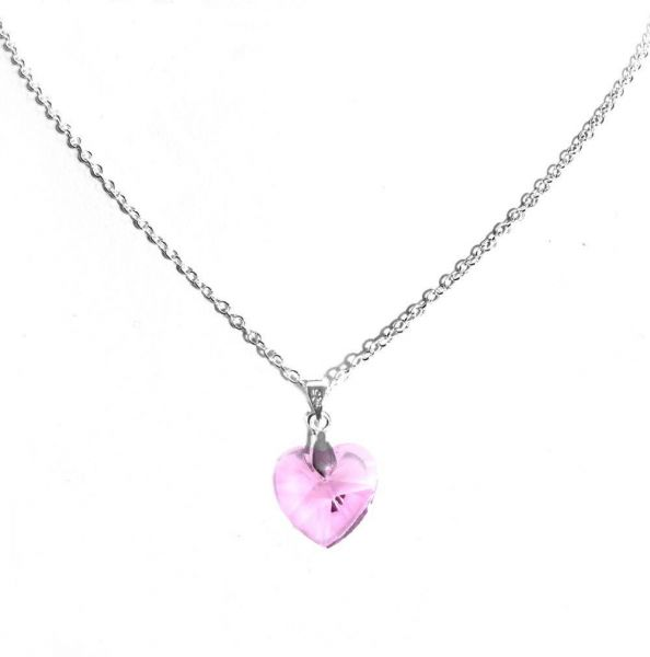 Souq 925 silver pink heart crystal pendant necklace 003 kuwait 925 silver pink heart crystal pendant necklace 003 aloadofball Image collections