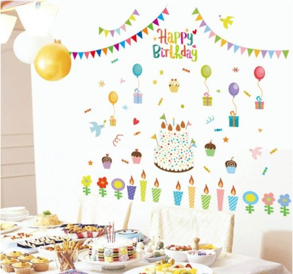 Removable wall sticker decor Birthday Party price review and buy in