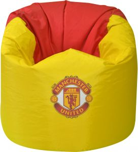 Phenomenal Fb Manchester United Beanbag Chair Yellow Red 80X75Cm Creativecarmelina Interior Chair Design Creativecarmelinacom