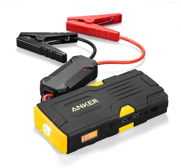 Anker Powercore Jump Starter 600 Car Battery Jump Starter With 600a Peak Current And Portable Usb Charger With 15000mah Capacity With Led Flashlight