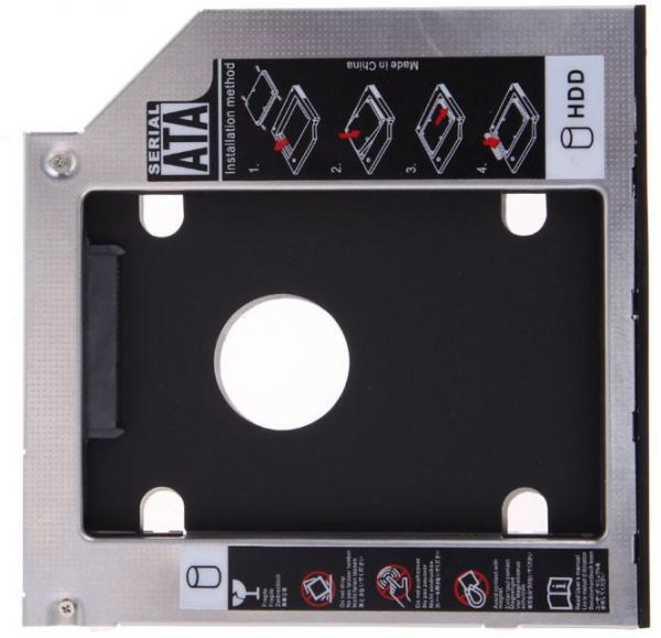 9 5mm Universal Sata 2nd Hdd Ssd Hard Drive Caddy For Cd/dvd-rom Optical  Bay High Quality