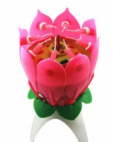 5pcs Fashion Musical Flower Music Candles Lotus Candle Birthday