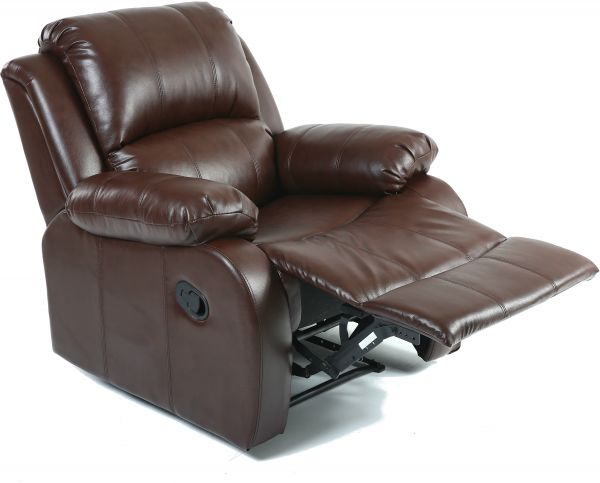 Pu Leather Xr 8001 Br Recliner Chair Dark Brown H 100 Cm X W 92