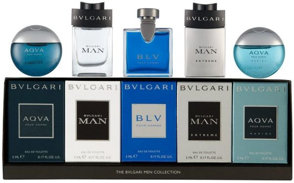 & Bvlgari Menu0027s Travel Collection - 5 Pcs Mini Fragrance Set | Souq - UAE
