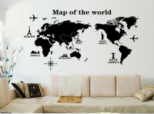 Full Wall World Map.Buy World Map Zooyoo Zto Explorer Uae Souq Com