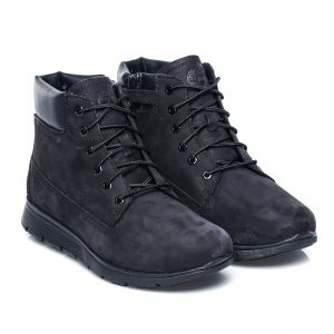 Timberland Black Lace Up Boot For Boys 6293129de4