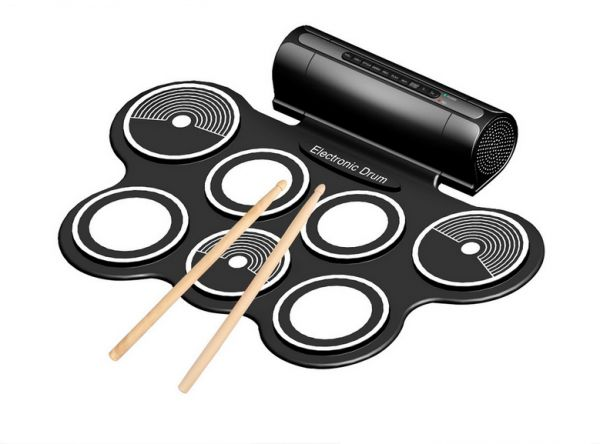 9 pad musical instrument roll-up drum kit