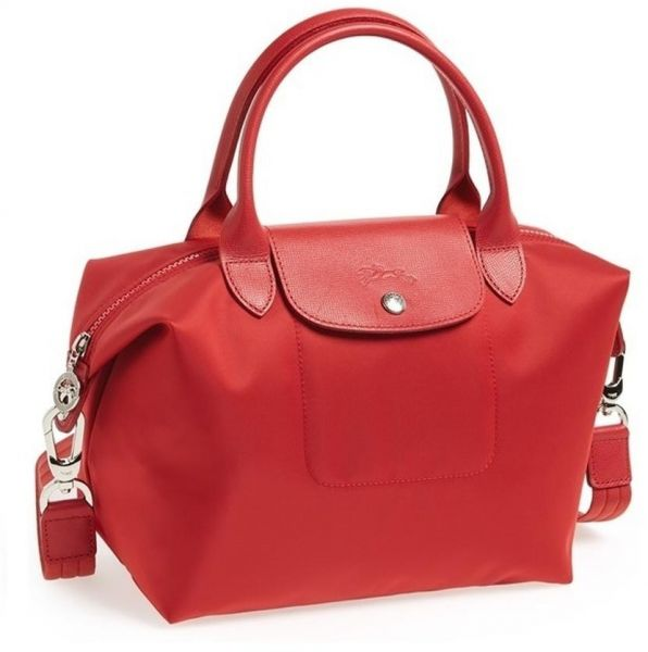 Longchamp Le Pliage Neo Tote Bag Medium Red