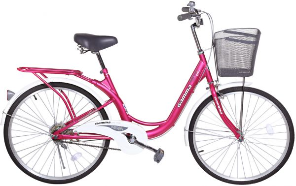 Camping Toilet Gamma : Gamma butterfly bike 24 inch bic48 pink and white souq uae