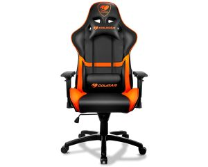 Enjoyable Cougar Armor Gaming Chair Black And Orange Bralicious Painted Fabric Chair Ideas Braliciousco
