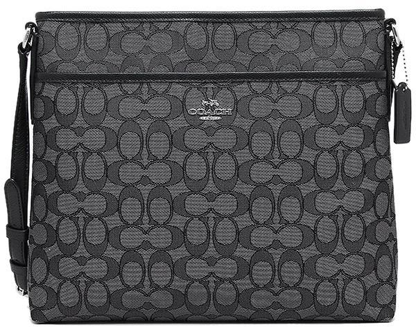 fed206773304 Coach F55363 SVDK6 Signature File Bag Crossbody Bag - Black Smoke ...