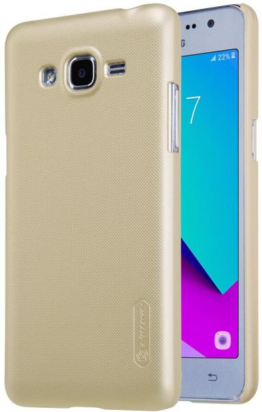 Samsung Galaxy J2 Prime Nillkin Super Frosted Shield Back Case Gold Color