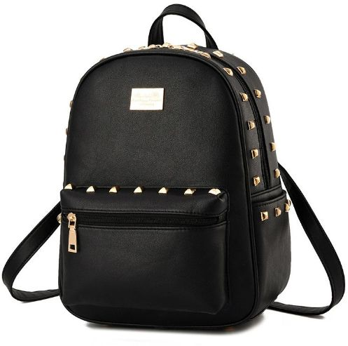 Black Fashion Backpack Autumn Winter Students School Bags  51e2ff7bc8498