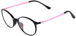 6cb04faa8c9 Feather Round Shaped Eye Frame For Women Black And White