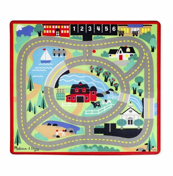 Melissa Doug Round The Town Road Rug Car Set 19400 Toys