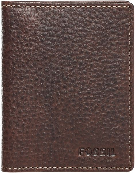 c4af95972ae746 Fossil ML3688200 Lincoln Card Case Bifold Wallet for Men - Brown ...