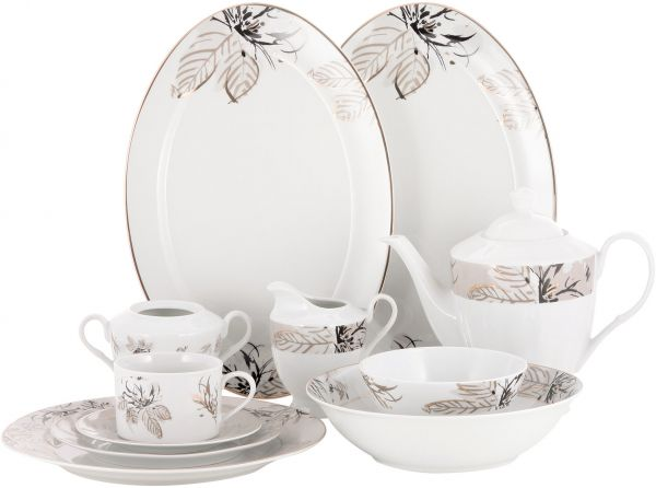 This item is currently out of stock  sc 1 st  Souq.com & Pan Emirates Ceramic Lynns 47 pieces Dinnerware Set price review ...