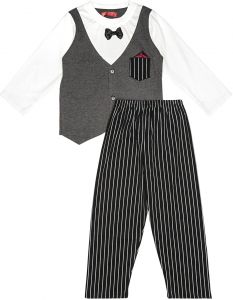 c78aac39e48a09 Joanna Pajama For Boys - White, Grey, Black, 11 - 12 Years