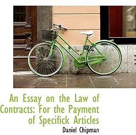 An Essay On The Law Of Contracts For The Payment Of Specifick  An Essay On The Law Of Contracts For The Payment Of Specifick Articles By  Daniel Chipman  Paperback  Souq  Uae