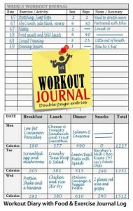 buy workout journal workout diary log with food exercise journal