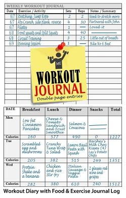 Souq Workout Journal Workout Diary with Food Exercise Journal
