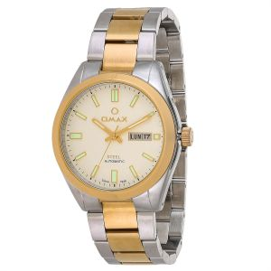 c1b709b9928 Omax Men Gold Dial Stainless Steel Band Watch - OSA037AP01