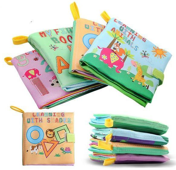 989e3268b3170 XD-3 Baby Soft Fabric Cloth Book Set of 4 Nontoxic for 0-3yrs