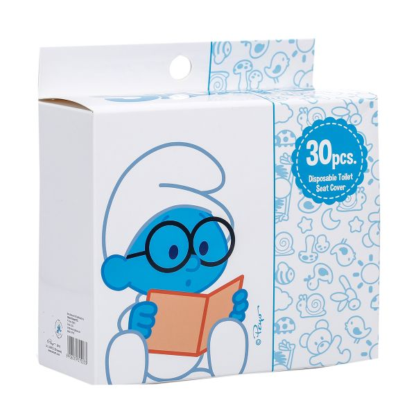 The Smurfs Disposable Paper Toilet Seat Covers Box Of 30 Pcs
